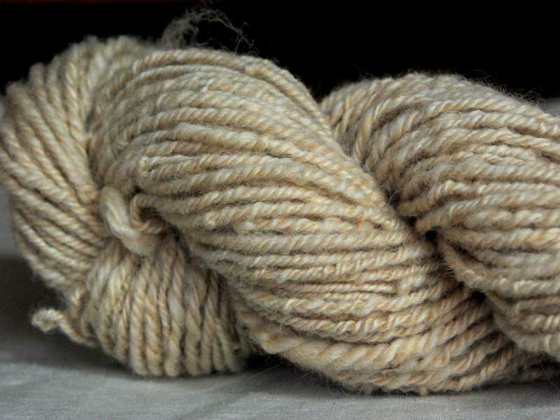 Wheat Romney Cross Handspun Yarn
