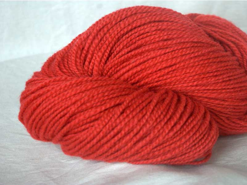 Romney/Alpaca Yarn - Chili Pepper