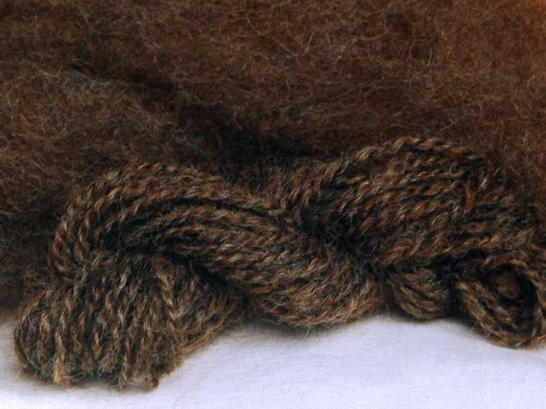 Romney Roving, Deep Brown